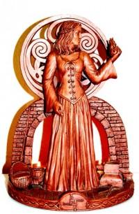 Estatua de la Diosa Brigit
